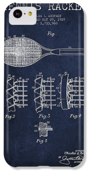 Tennnis Racket Patent Drawing From 1929 IPhone 5c Case by Aged Pixel