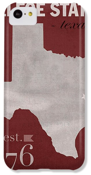 Texas A And M University Aggies College Station College Town State Map Poster Series No 106 IPhone 5c Case by Design Turnpike