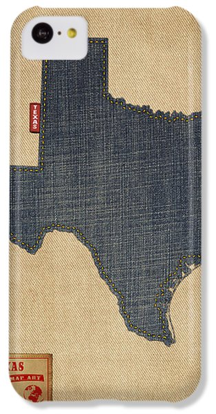 Texas Map Denim Jeans Style IPhone 5c Case