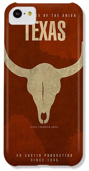 Texas State Facts Minimalist Movie Poster Art  IPhone 5c Case by Design Turnpike