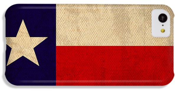 Texas State Flag Lone Star State Art On Worn Canvas IPhone 5c Case