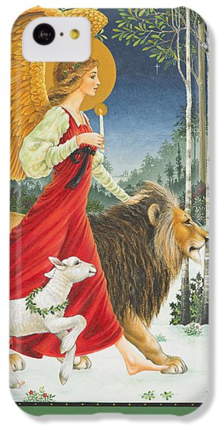 Lion iPhone 5c Case - The Angel The Lion And The Lamb by Lynn Bywaters