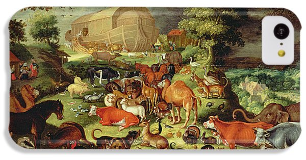 The Animals Entering The Ark IPhone 5c Case by Jacob II Savery