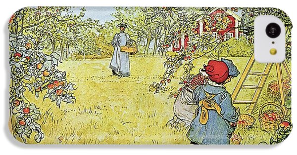 Rural Scenes iPhone 5c Case - The Apple Harvest by Carl Larsson