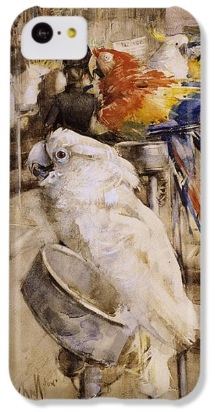 Cockatoo iPhone 5c Case - The Aviary, Clifton, 1888 by Joseph Crawhall