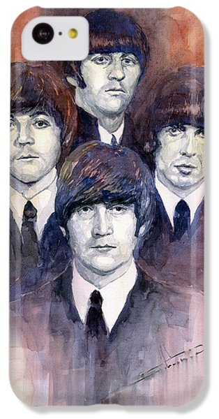 Musicians iPhone 5c Case - The Beatles 02 by Yuriy Shevchuk