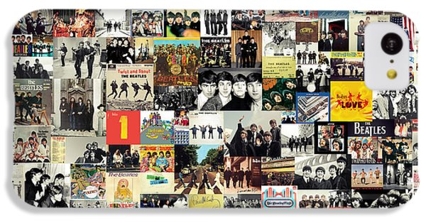 Musicians iPhone 5c Case - The Beatles Collage by Zapista