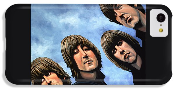 Musicians iPhone 5c Case - The Beatles Rubber Soul by Paul Meijering