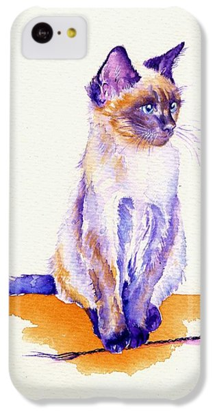 Cat iPhone 5c Case - The Catmint Mouse Hunter by Debra Hall
