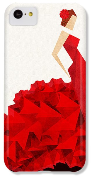Guitar iPhone 5c Case - The Dancer Flamenco by VessDSign