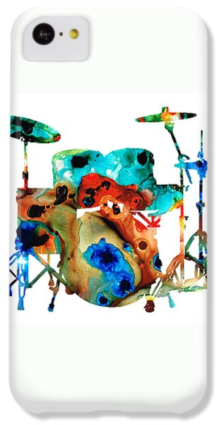 Drum iPhone 5c Case - The Drums - Music Art By Sharon Cummings by Sharon Cummings