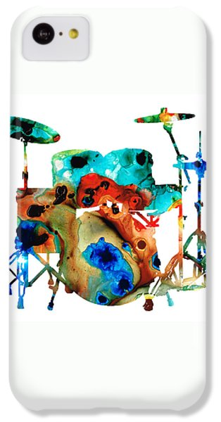The Drums - Music Art By Sharon Cummings IPhone 5c Case by Sharon Cummings