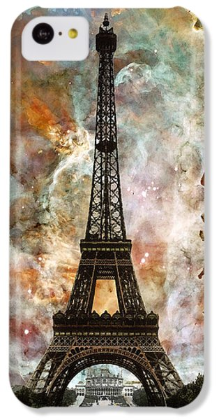 The Eiffel Tower - Paris France Art By Sharon Cummings IPhone 5c Case by Sharon Cummings