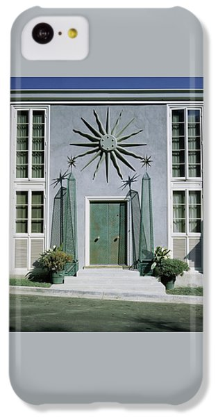 Beverly Hills iPhone 5c Case - The Facade Of Tony Duquette's House by Shirley C. Burden