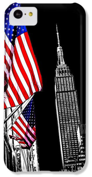 Empire State Building iPhone 5c Case - The Flag That Built An Empire by Az Jackson