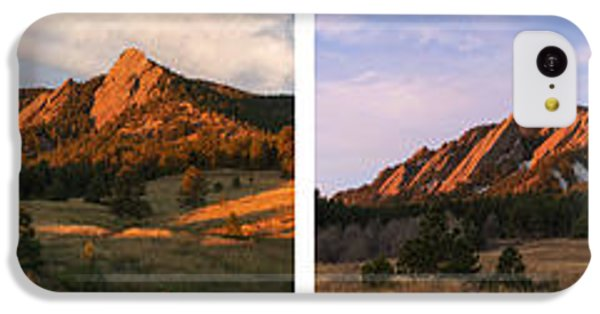 The Flatirons - Four Seasons Panorama IPhone 5c Case by Aaron Spong