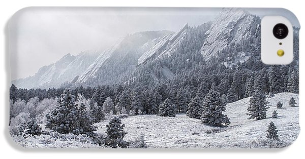 The Flatirons - Winter IPhone 5c Case by Aaron Spong