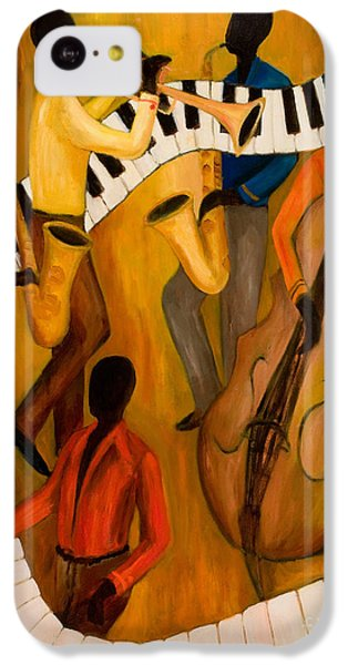 Trumpet iPhone 5c Case - The Get-down Jazz Quintet by Larry Martin