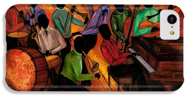 Jazz iPhone 5c Case - The Gitdown Hoedown by Larry Martin