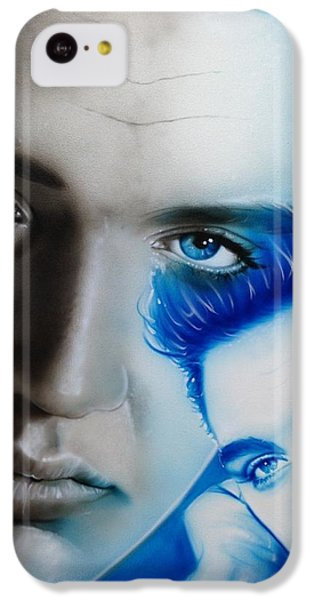 Elvis Presley - ' The King ' IPhone 5c Case by Christian Chapman Art