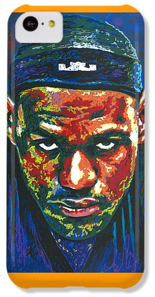Lebron James iPhone 5c Case - The Lebron Death Stare by Maria Arango