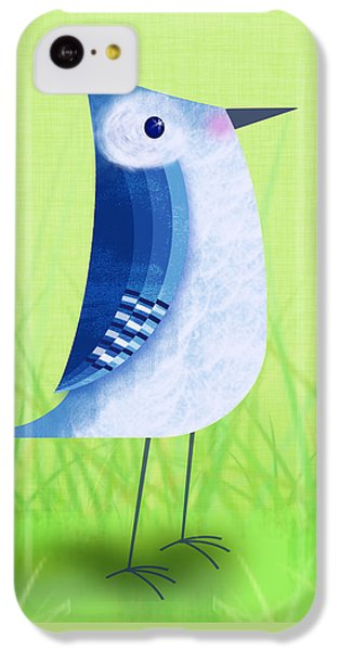 Bluebird iPhone 5c Case - The Letter Blue J by Valerie Drake Lesiak