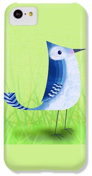 The Letter Blue J IPhone 5c Case by Valerie Drake Lesiak