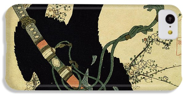 The Little Raven With The Minamoto Clan Sword IPhone 5c Case by Katsushika Hokusai