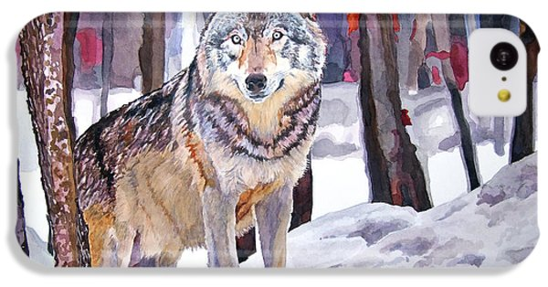 Wolves iPhone 5c Case - The Lone Wolf by David Lloyd Glover