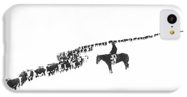 Rural Scenes iPhone 5c Case - The Long Long Line by Underwood Archives  Charles Belden