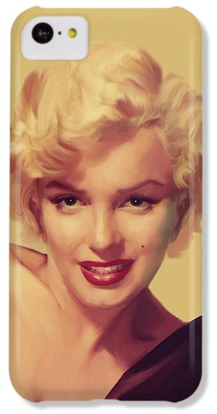 Marilyn Monroe iPhone 5c Case - The Look In Gold by Chris Consani