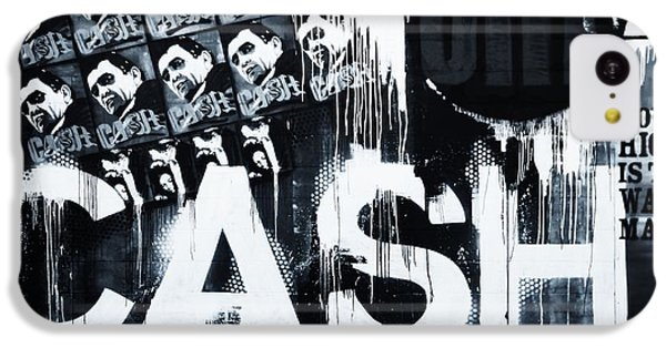 Johnny Cash iPhone 5c Case - The Man In Black by Dan Sproul