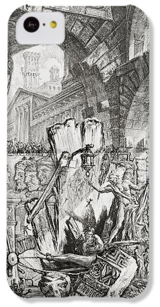 Dungeon iPhone 5c Case - The Man On The Rack Plate II From Carceri D'invenzione by Giovanni Battista Piranesi