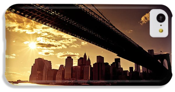 City Sunset iPhone 5c Case - The New York City Skyline - Sunset by Vivienne Gucwa