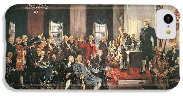 The Signing Of The Constitution Of The United States In 1787 IPhone 5c Case by Howard Chandler Christy