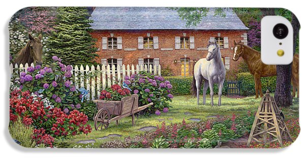 Bluejay iPhone 5c Case - The Sweet Garden by Chuck Pinson