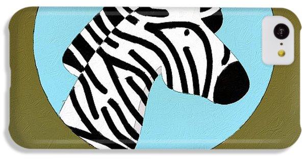 The Zebra Cute Portrait IPhone 5c Case by Florian Rodarte