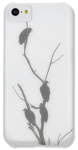 Their Waiting Four Black Vultures In Dead Tree IPhone 5c Case by Chris Flees