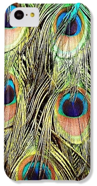 Colorful iPhone 5c Case - Peacock Feathers by Blenda Studio
