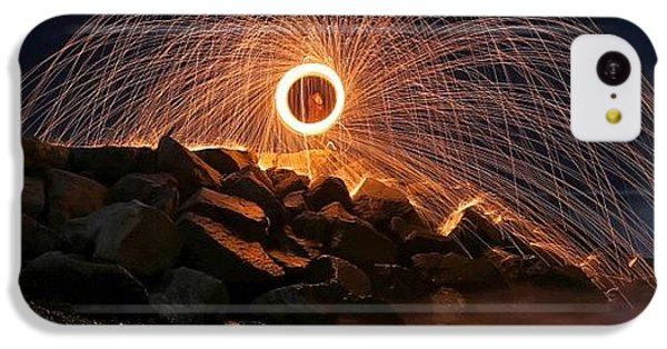 iPhone 5c Case - This Is A Shot Of Me Spinning Burning by Larry Marshall