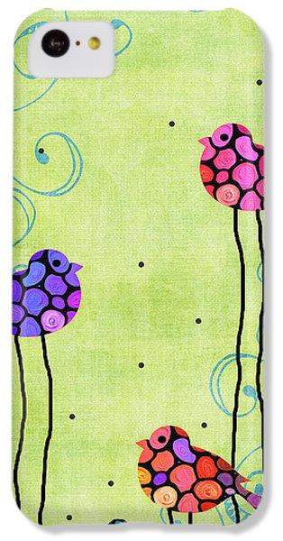 Finch iPhone 5c Case - Three Birds - Spring Art By Sharon Cummings by Sharon Cummings