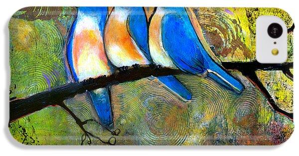 Bluebird iPhone 5c Case - Three Little Birds - Bluebirds by Blenda Studio
