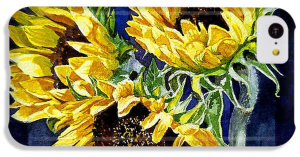 Three Sunny Flowers IPhone 5c Case