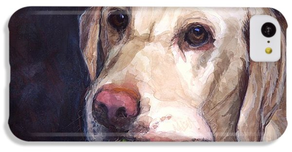 Dog iPhone 5c Case - Throw The Ball by Molly Poole