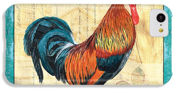 Rooster iPhone 5c Case - Tiffany Rooster 1 by Debbie DeWitt