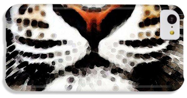 Tiger Art - Burning Bright IPhone 5c Case by Sharon Cummings