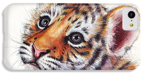 Tiger Cub Watercolor Painting IPhone 5c Case