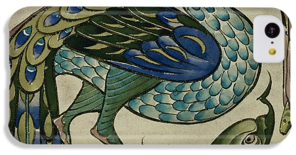 Tile Design Of Heron And Fish IPhone 5c Case by Walter Crane