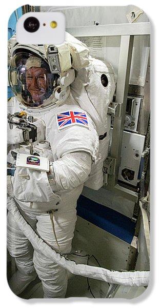 Tim Peake Preparing For Spacewalk IPhone 5c Case by Nasa
