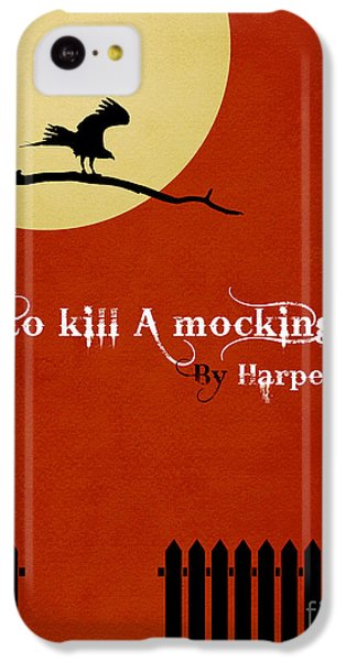 Mockingbird iPhone 5c Case - To Kill A Mockingbird Book Cover Movie Poster Art 1 by Nishanth Gopinathan